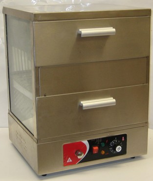 hot dog warmer cabinet - rear view