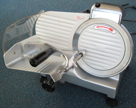 meat slicer - front view