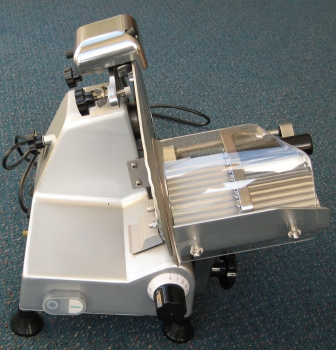 meat slicer - side view