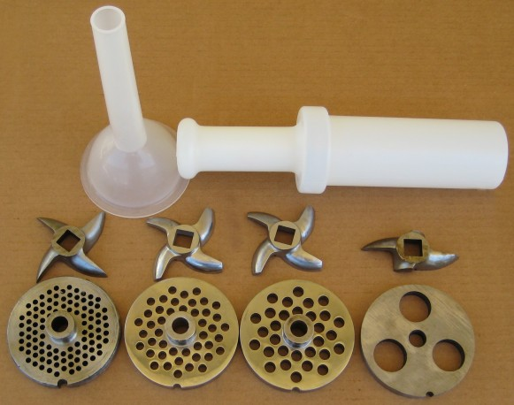 meat grinder accessories. extended set