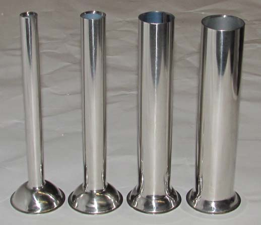 Stainless steel funnels for Rovtex sausage fillers