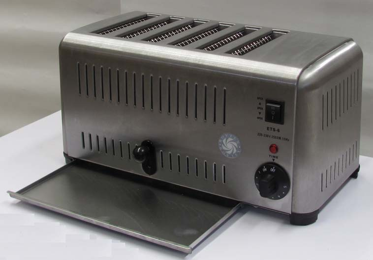 mercial stainless steel Toaster with six slots