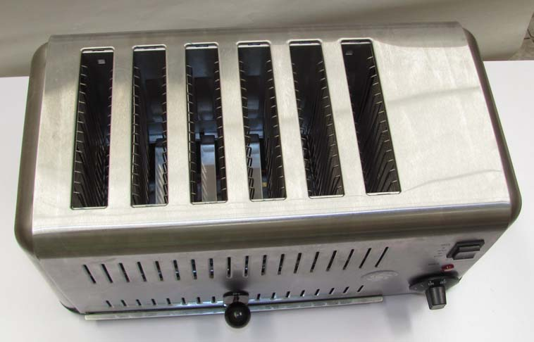 Commercial stainless steel Toaster with six slots