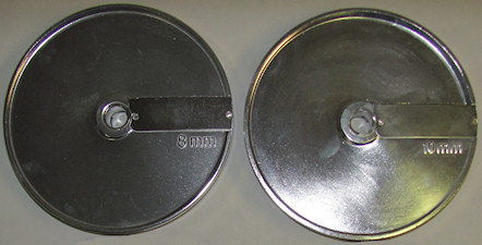 slicing aluminum disc 8mm or 10mm used for dicing and French fries vegetable cut