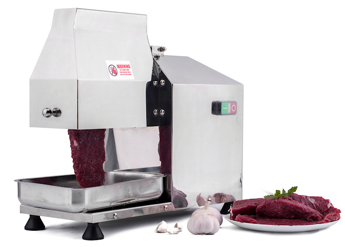 Commercial electric stir fry cutter - tenderizer with three optional heads
